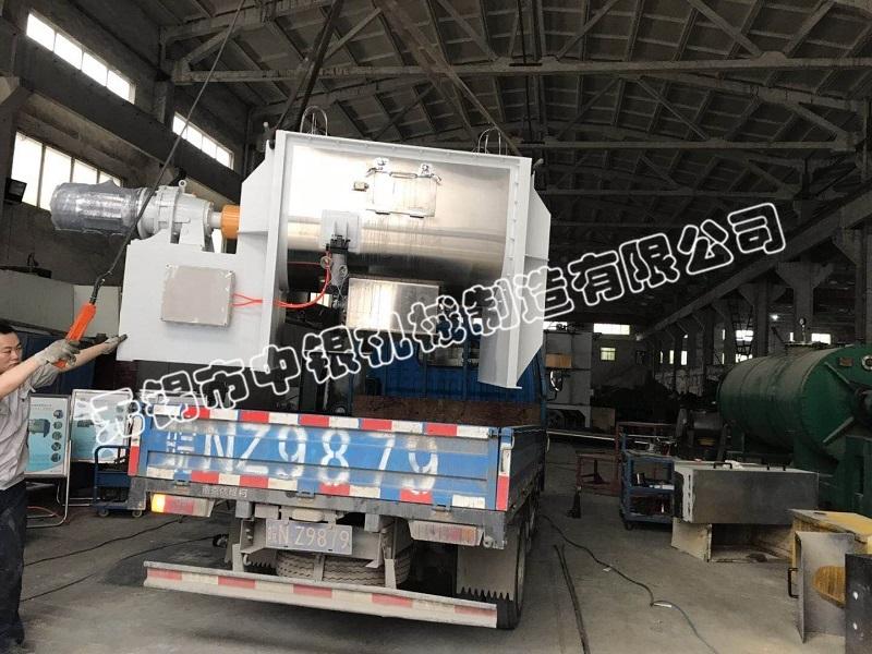 无锡中银机械1000L螺带混合机成功发往安徽合肥