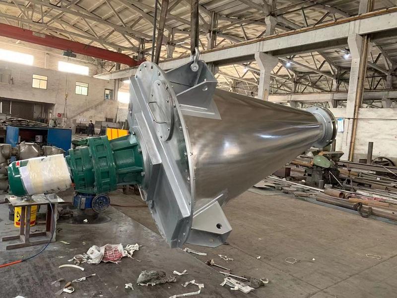无锡中银0.5P双螺旋锥形混合机成功发往山东